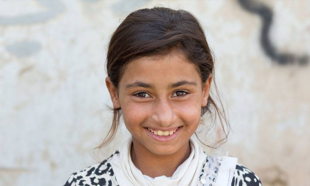 Horeya ist elf Jahre als und floh vor drei Jahren aus Raqqa in Syrien