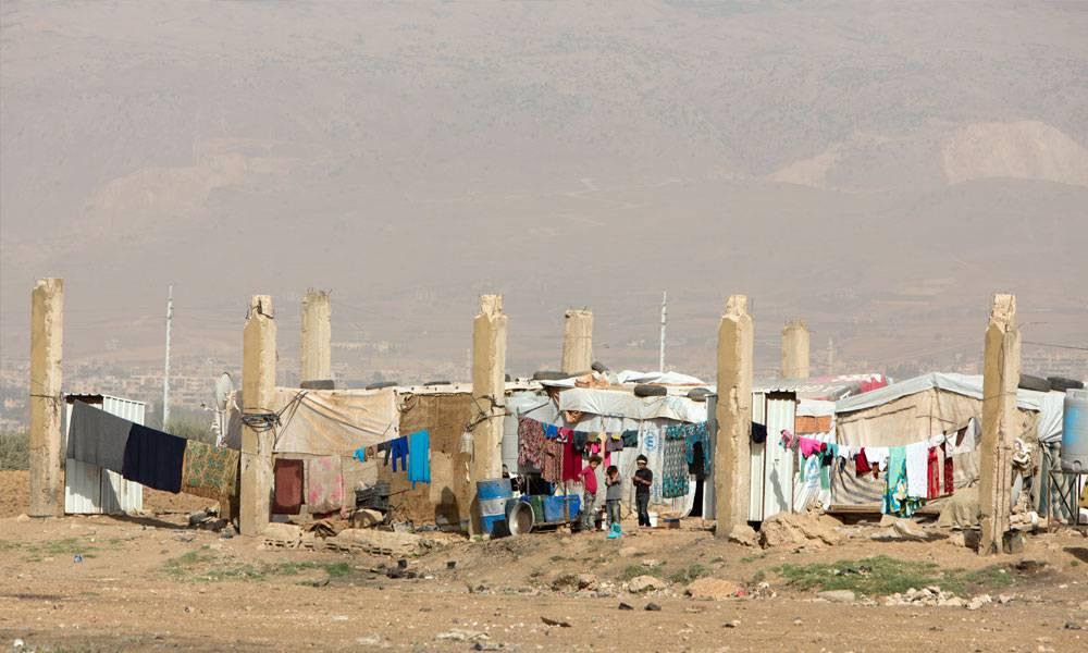 Etwa hundert Familien aus Syrien leben in den Ruinen einer alten Fabrik