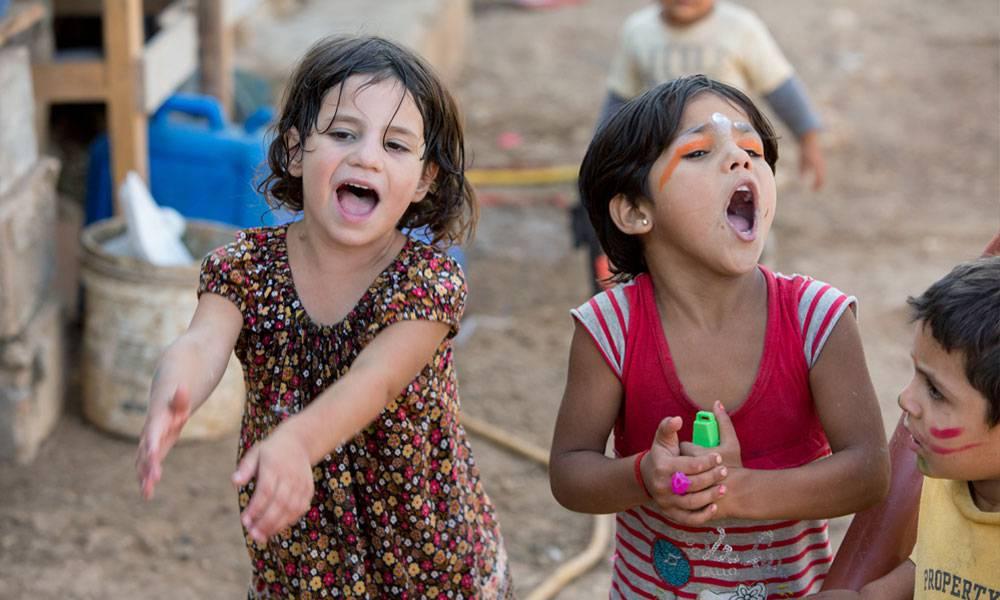 Wenn die Kinder spielen, vergessen sie ihre Sorgen und Nöte für eine Weile